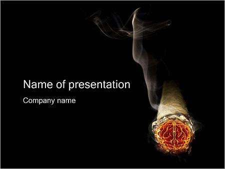 Smoke Brain PowerPoint Template, Backgrounds  Google Slides - ID