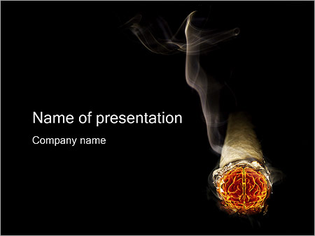 Smoke Brain PowerPoint Template, Backgrounds  Google Slides - ID