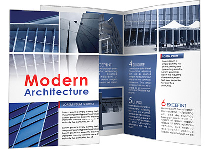 Modern Architecture Brochure Template  Design ID 0000001001 - architecture brochure template