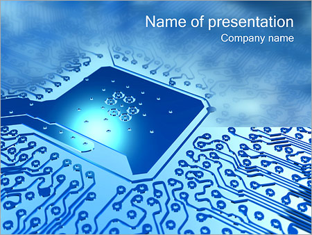Circuit Board PowerPoint Template  Backgrounds ID 0000001207