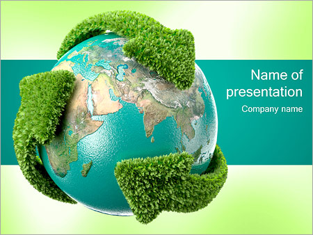 Recycling Earth PowerPoint Template  Backgrounds ID 0000001210 - recycling powerpoint templates