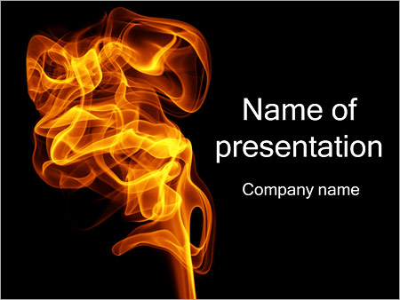 Fire Smoke PowerPoint Template, Backgrounds  Google Slides - ID