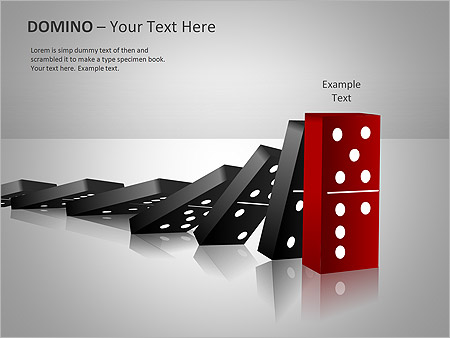 Domino Effect PPT Diagrams  Chart  Design ID 0000001915