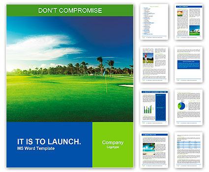 Golf course Word Template  Design ID 0000010057 - SmileTemplates