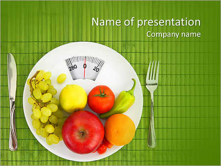 Diet and nutrition PowerPoint Template, Backgrounds  Google Slides