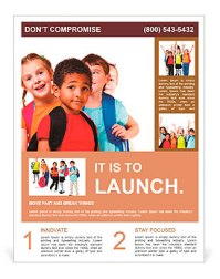 Kids ready back to school Flyer Template & Design ID ...
