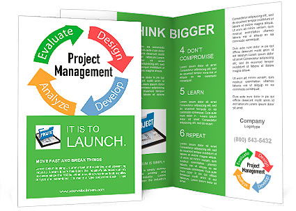 Project Management business product development arrows cycle - Product Brochure Template