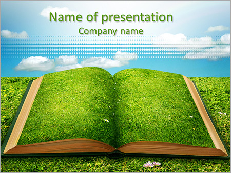 Open magic book of nature PowerPoint Template, Backgrounds  Google - nature powerpoint