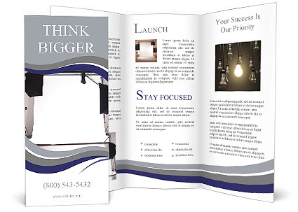 Empty photo studio with lighting equipment Brochure Template - studio brochure