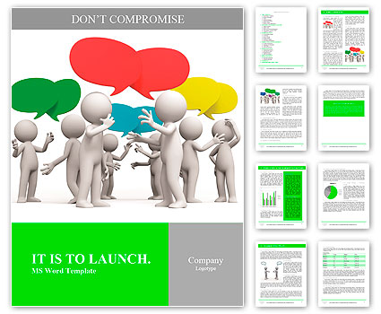 Discuss/debate/Seve ral people are discussed Word Template  Design - word templates
