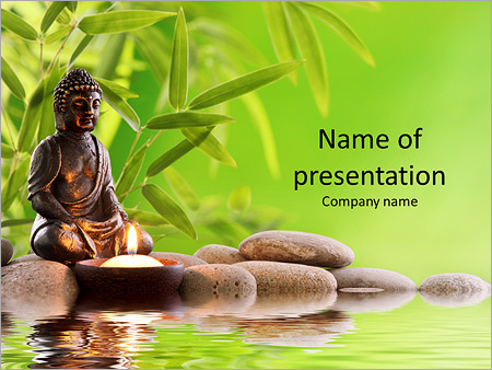 Buddha in meditation PowerPoint Template  Backgrounds ID 0000010508 - buddhism powerpoint