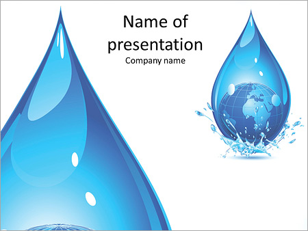 A huge drop of water PowerPoint Template  Backgrounds ID 0000010570 - water powerpoint template