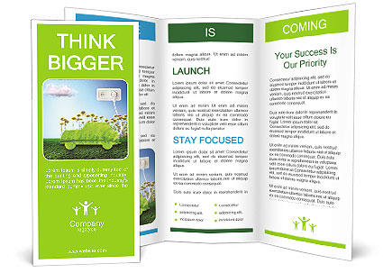 The concept of a green car of the future Brochure Template  Design