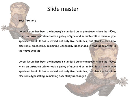 Cowboy boots PowerPoint Template, Backgrounds  Google Slides - ID
