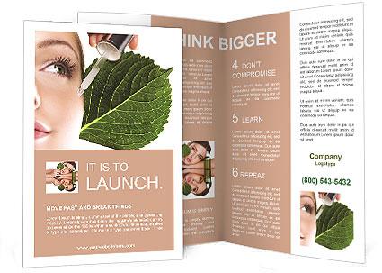 Woman dyed organic cosmetics Brochure Template  Design ID - spa brochure template