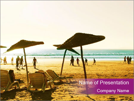 Summer Vacation PowerPoint Template, Backgrounds  Google Slides