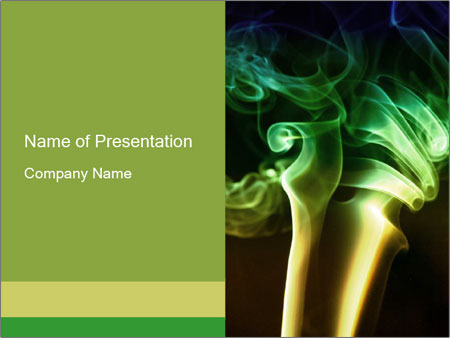 Green Smoke PowerPoint Template, Backgrounds  Google Slides - ID