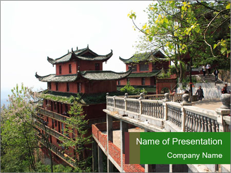 Traditional Chinese Temple PowerPoint Template, Backgrounds  Google