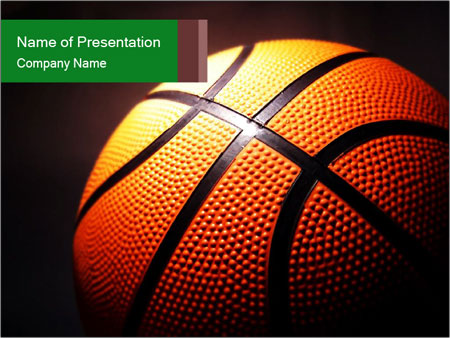 Macro Illustration of Basketball PowerPoint Template, Backgrounds
