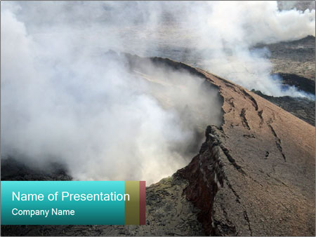 Dangerous Volcano Smoke PowerPoint Template, Backgrounds  Google