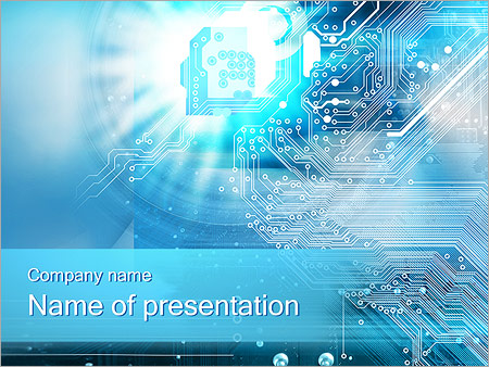 Circuit Board Concept PowerPoint Template  Backgrounds ID