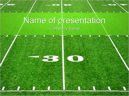 American Football Field PowerPoint Template, Backgrounds  Google - football powerpoint template