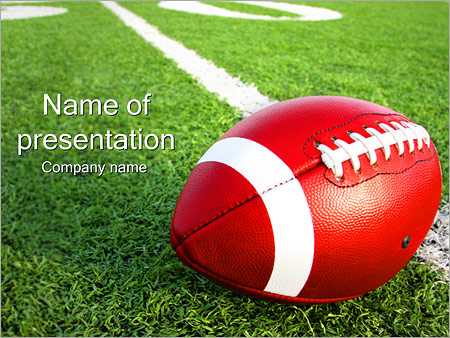 American Football PowerPoint Template, Backgrounds  Google Slides - football powerpoint template