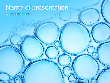 Water Bubbles PowerPoint Template  Backgrounds ID 0000002398