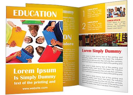 University Students Brochure Template  Design ID 0000002430