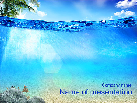 Ocean Water PowerPoint Template \ Backgrounds ID 0000002607 - summer powerpoint template