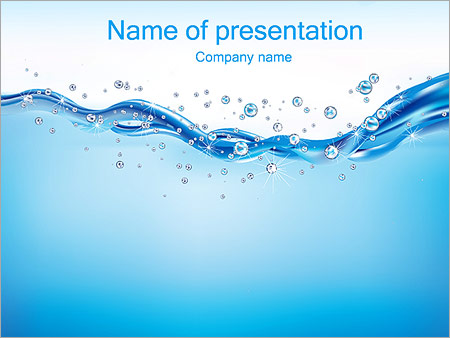 Abstract Water PowerPoint Template  Backgrounds ID 0000002630