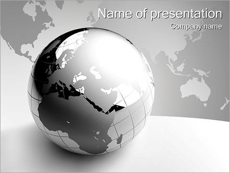 Abstract Grey Earth PowerPoint Template, Backgrounds  Google Slides