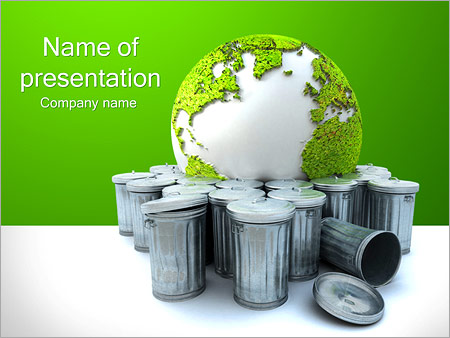 Green Recycling PowerPoint Template  Backgrounds ID 0000002876 - recycling powerpoint templates