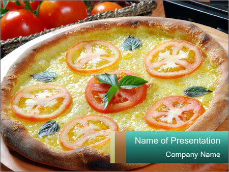 Margareta Pizza PowerPoint Template  Backgrounds ID 0000020329