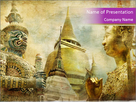 Buddhist Temple in Bangkok PowerPoint Template, Backgrounds  Google