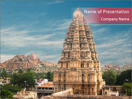 Hindu Temple South India PowerPoint Template, Backgrounds  Google