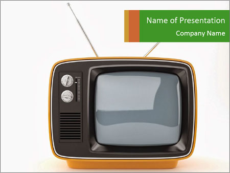 Old TV Set PowerPoint Template, Backgrounds  Google Slides - ID