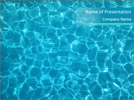 Vibrant Pool Water PowerPoint Template  Backgrounds ID 0000027491 - water powerpoint template