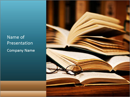 Wisdom of Books PowerPoint Template, Backgrounds  Google Slides - Powerpoint Books