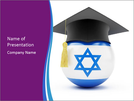 Graduation in Israel University PowerPoint Template, Backgrounds - graduation powerpoint