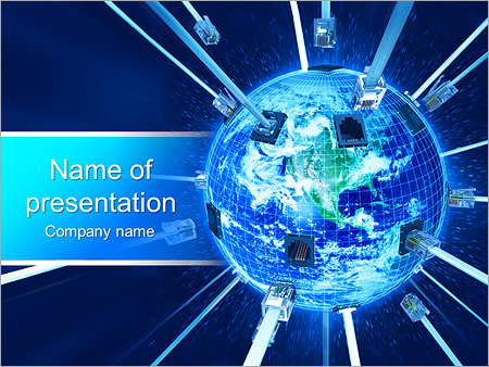 Global Connection PowerPoint Template, Backgrounds  Google Slides - global powerpoint template