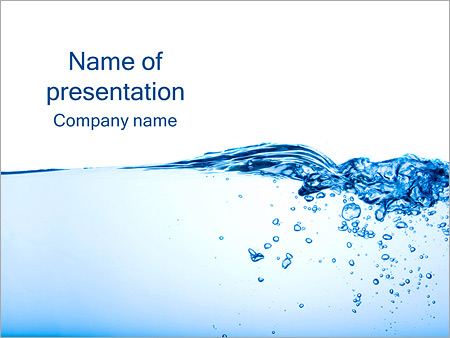 Water Image PowerPoint Template  Backgrounds ID 0000003487