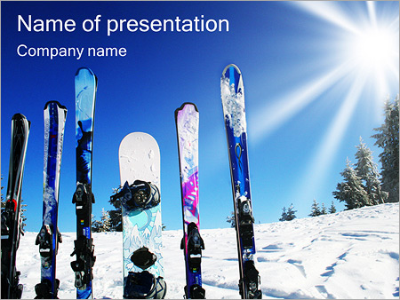 Winter Kinds Of Sport PowerPoint Template  Backgrounds ID