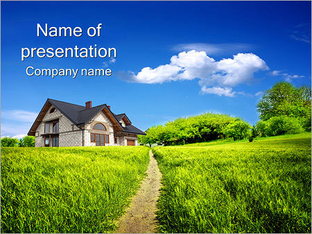 Summer Cottage PowerPoint Template, Backgrounds  Google Slides - ID