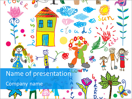 Cute Children\u0027s Pictures PowerPoint Template, Backgrounds  Google