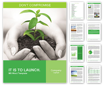 Save Nature Campaign Word Template  Design ID 0000003946