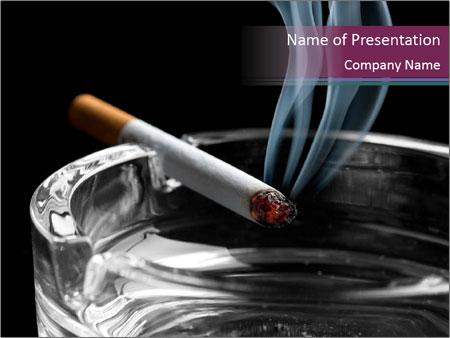 Cigarette - PowerPoint Template - SmileTemplates
