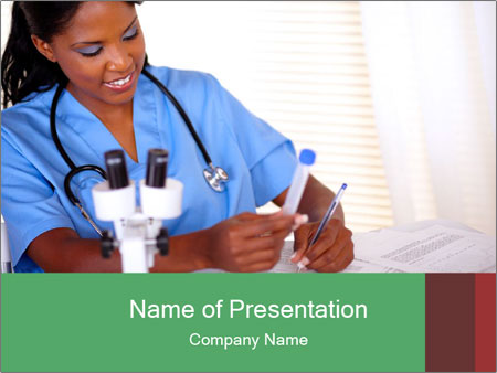 Afro-American Nurse PowerPoint Template, Backgrounds  Google Slides