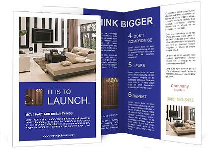 Living Room Interior Design Brochure Template  Design ID 0000004411 - interior design brochure template