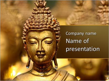 Golden Buddha Statue PowerPoint Template, Backgrounds  Google